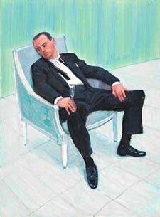 Charlie (Scheips) Sitting -David Hockney 2005
