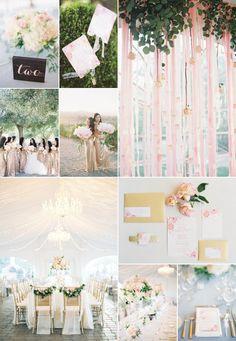 Inspirational Wedding Ideas #214: Blush & Champagne - http://www.diyweddingsmag.com/inspirational-wedding-ideas-214-blush-champagne/