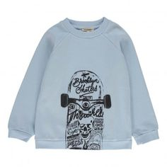Skateboard sweatshirt Pale blue  Hundred Pieces