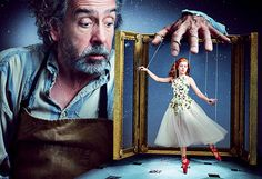 Amy Adams and Tim Burton re-imagines The Red Shoes, photographed by Annie Leibovitz, 2014.