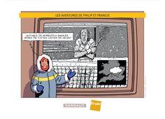 Ex-libris FNAC pour le nouveau Philip et Francis. Sortie le 12/09/14. Dessin de Nicolas Barral. #Dargaud #BD #Barral
