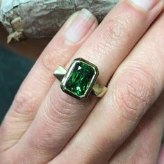 """Melanie Eddy's Instagram post: """"Tourmaline Dreams! 💚 Sharing this awesome bespoke wedding set from about a year and a half ago. This one of a kind wedding ring set…"""" Wedding Sets, Wedding Rings, Bespoke, Rings For Men, Dreams, Jewellery, Awesome, Instagram Posts, Taylormade"""