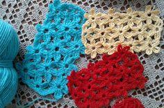 Узор крючком. Безотрывное вязание крючком. Цветочный мотив крючком. Сrochet pattern