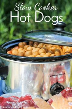 Not everyone wants to be stuck behind a grill during the picnic! If you have to cook hot dogs for a crowd, there's an easy way to do it-in the slow cooker!