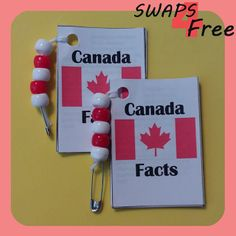 Each booklet has the country's flag on the front cover, the map on the back cover, and eight inner pages packed with facts. Canada Day Crafts, Canada Day Party, Canada Holiday, Girl Scout Juniors, Daisy Scouts, World Thinking Day, Girl Scout Swap, Brownie Girl Scouts, Hat Crafts