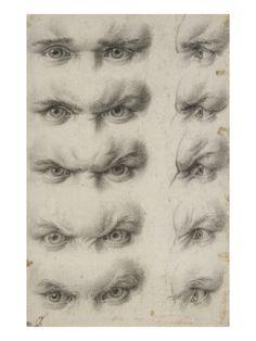Charles Le Brun - Études d'yeux humains