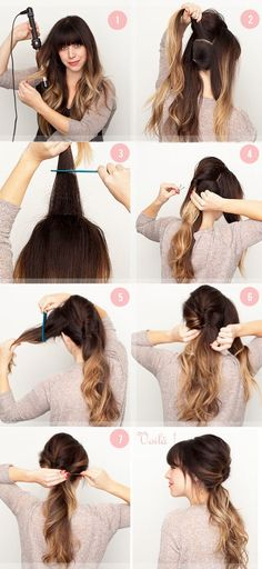Cute twisted hair that will pull the hair out of your face. Cute twisted hair that will pull the hai Summer Hairstyles, Pretty Hairstyles, Wedding Hairstyles, 2014 Hairstyles, Simple Hairstyles, Summer Hairdos, Relaxed Hairstyles, Pinterest Hairstyles, Sporty Hairstyles