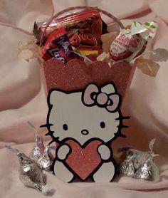 adorable hello kitty treat bag