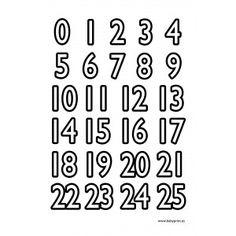 Números para imprimir y colorear