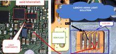 Lenovo A6000 Cell Phone Screen Repair Light Problem Solution Jumper Ways