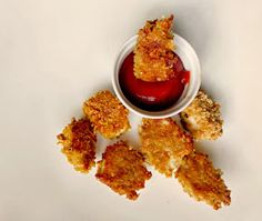 homemade gluten free chicken nuggets made with chex