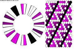 Kumihimo Friendship Bracelet patterns | 24 strings, 7 colours | Kumihimo Patterns