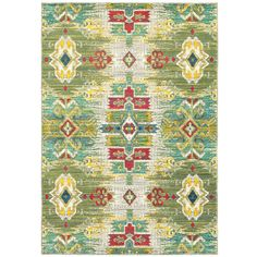 You'll love the Frankfurt Yellow/Green/Red Area Rug at AllModern - With Great Deals on modern Décor  products and Free Shipping on most stuff, even the big stuff.