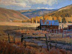 Wyoming Homestead by John Poon Watercolor Landscape, Landscape Art, Landscape Paintings, Watercolor Paintings, Oil Paintings, Traditional Paintings, Traditional Art, Paintings I Love, Western Art