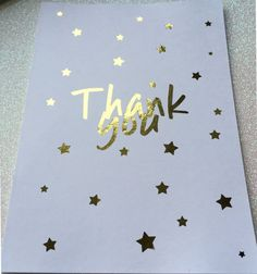 Hey, I found this really awesome Etsy listing at https://www.etsy.com/uk/listing/495295640/star-thank-you-postcard-a6-foiled