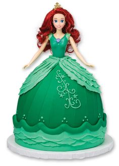 Make a simple DIY Disney Princess Ariel doll cake for a princess birthday party