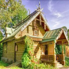 Russian wooden house. #Russian #wooden #house