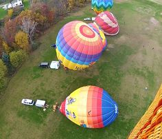 Right at lift off flying over 7 hot air balloon with my friends Gordy and Jim, Joey, John and DJ in Brighton, Michigan.