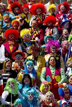 clowns | Clowns pose for the official photo at the XVII th Clown Convention in ...