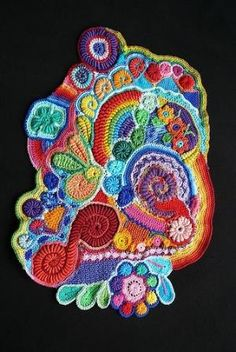 Scrumble. Free form crochet by Vickie Romero