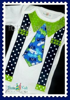 Birthday Boy, tie and suspenders bodysuit or Tshirt; many color combinations available! by FiestaKidsBoutique