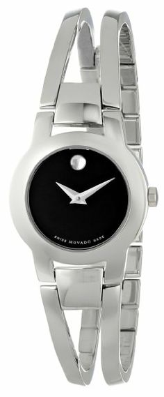 Movado Womens 604759 Amorosa Stainless Steel Bangle Bracelet Watch - Price: $495.00