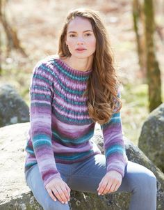 Hayfield 10033 Sweater in Hayfield Spirit DK/#3 weight yarn Knit Crochet, Crochet Patterns, Spirit, Pullover, Knitting, Lady, Sweaters, Beauty, Fashion