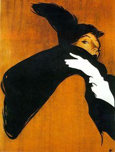 Cover for International Textiles 1951, René Gruau 1909 - 2004