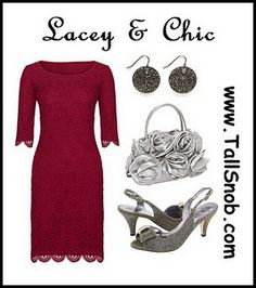 Lacey and chic tall party dress