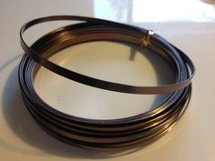 brown flat wire wire 32.8 feet by PetalandForrest on Etsy