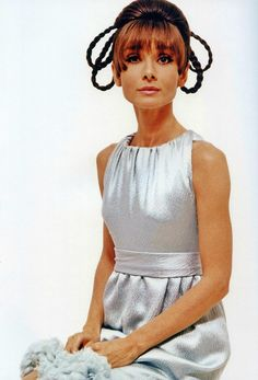 """The actress Audrey Hepburn photographed by William Klein (in Paris, in September 1966) to a fashion editorial and also for the publicity of """"Two for the Road"""" (1967). Audrey was wearing a cocktail dress by Givenchy"""