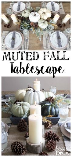 Muted Fall Tablescape Table Settings Fall Decor Fall Home Decor Decoration Christmas, Thanksgiving Decorations, Seasonal Decor, Holiday Decor, Thanksgiving Tablescapes, Fall Home Decor, Autumn Home, Fall Decor For Mantel, Adornos Halloween