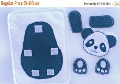 AFTER CHRISTMAS Panda build a book activity book add on page felt quiet book page