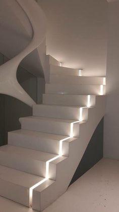 Spectacular Interior Design Trends Ideas On 2019 70 Staircase Interior Design, Home Stairs Design, Home Room Design, Dream Home Design, Modern House Design, Home Interior Design, Interior Lighting Design, Modern Lighting Design, Stairs Architecture