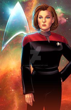 Captain  Kathryn Janeway - Star Trek: Voyager by JamieFayX.deviantart.com on @DeviantArt