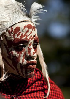 Kikuyu man with painted face - Kenya by Eric Lafforgue, via Flickr