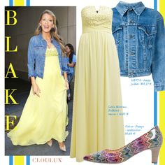 Blake Lively Outfits, Blake Lively Style, Jeans, Street Style, Formal Dresses, Celebrities, Women, Fashion, Yellow