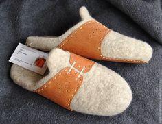 ♡ Купить Тапки-шлёпки Денди. - бежевый, ярко-синий, тапочки, тапочки домашние