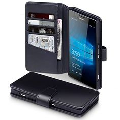 From 12.26:Microsoft Lumia 950 Xl Case Terrapin [genuine Leather] Microsoft Lumia 950 Xl Case Executive [black] Premium Wallet Case With Card Slots & Bill Compartment Case For Microsoft Lumia 950 Xl - Black   Shopods.com