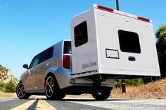 Give your car an upgrade with this Hitch Hotel Expandable Camper. Designed to serve as an organic extension of your vehicle, this no-wheel camper can be. Truck Camper, Diy Camper Trailer, Tiny Camper, Small Campers, Trailer Build, Rv Campers, Camper Caravan, Camper Boat, Travel Camper