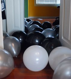 Filled my son's bedroom with balloons for him to wake up to on his 16th birthday!