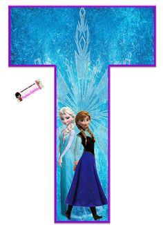 Frozen: Free Elsa and Ana Alphabet. Frozen: Bello Alfabeto Gratis de Elsa y Ana. Frozen Birthday Party, Sofia The First Birthday Party, Birthday Themes For Boys, Frozen Party, Baby Party, 4th Birthday, Birthday Party Themes, Frozen 1, Frozen Free