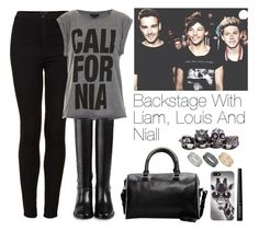 """""""Backstage with Liam, Louis and Niall"""" by lovatic92 ❤ liked on Polyvore featuring Topshop, Cole Haan, MANGO, With Love From CA, Alexander McQueen and Dorothy Perkins"""