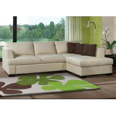 Outdoor Sectional, Sectional Sofa, Cream Leather Sectional, Outdoor Furniture, Outdoor Decor, Shades Of Green, Room, Design, Home Decor