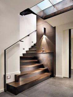 Corrimano e ringhiere per scale internedal design moderno n.15