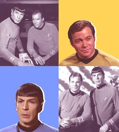 Classic Spock and Captain Kirk