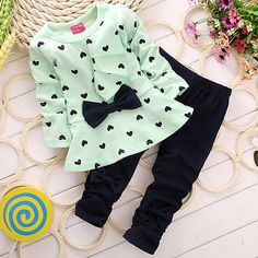 Baby Girls Clothing: Newborn Baby Girls Spring T-Shirt Tops+Pants Outfits Toddler Kids Clothes BUY IT NOW ONLY: $3.25