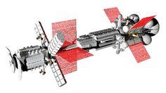 Sort of realistic space battlecruiser 7 by Do-Mo.deviantart.com on @DeviantArt
