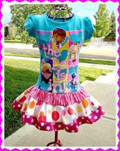 Doc McStuffins Back to school boutique by BlossomBlueBoutique, $34.99