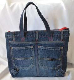 Hey, I found this really awesome Etsy listing at https://www.etsy.com/listing/210002060/upcycled-denim-bag-with-multiple-pockets